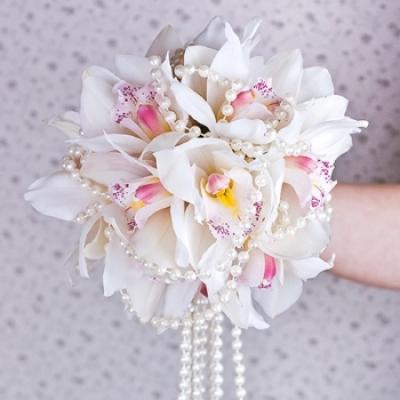 Доставка цветов в Комсомольске-на-Амуре белая орхидея